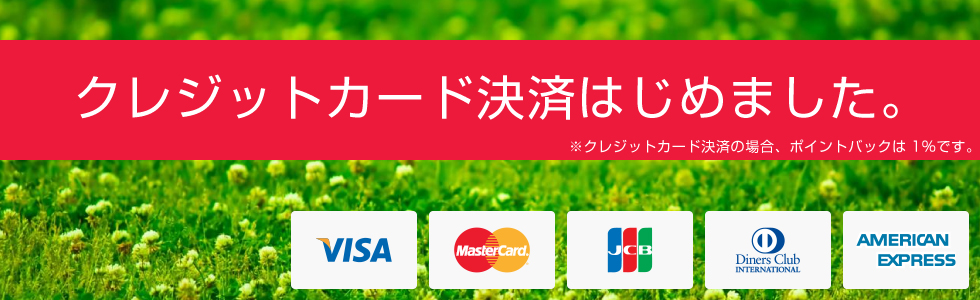 クレジットカード決済はじめました