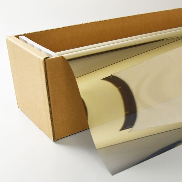 画像1: スパッタゴールド35 50cm幅x30mロール箱売 【窓ガラスフィルム 建物フィルム】 (1)