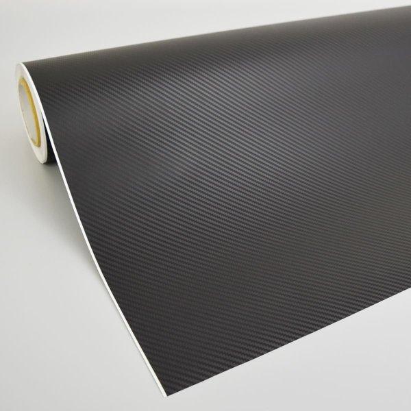 画像1: 3Dカーボンブラック (ローコスト低価格タイプ) 1m幅x30mロール箱売 エア抜き糊  【ラッピングフィルム ラッピングシート】 (1)
